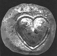 Heart-shaped seed of the silphium