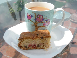 A cup of tea and a slice of cake. What could be nicer?