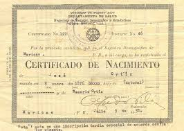 spanish birth cert