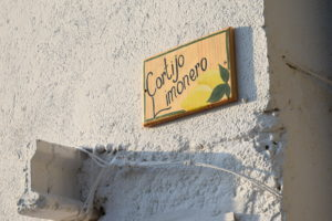 Cortijo Limonero now has a name sign, kindly painted for us by a friend